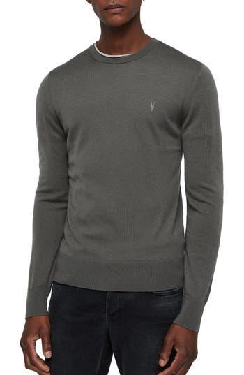 Allsaints Mode Slim Fit Merino Wool Sweater, Grey