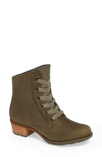 Chaco Cataluna Waterproof Lace-Up Boot, Green