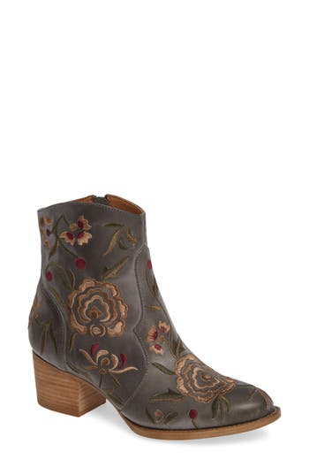 Sofft Westmont Floral Embroidered Bootie, Blue