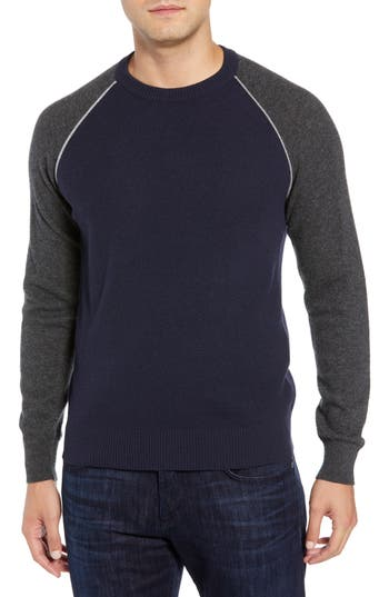Luciano Barbera Active Crewneck Wool & Cashmere Sweater, 2 US / 5 - Blue