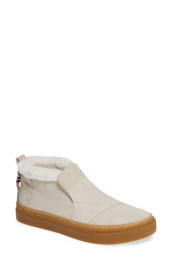 TOMS Women'S Paxton Faux-Fur Sneakers in Birch Suede