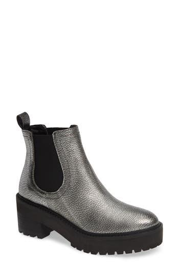 Linea Paolo Tate Platform Chelsea Boot, Metallic