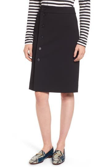 J.crew Jones Silhouette Stretch Chino Skirt, Black
