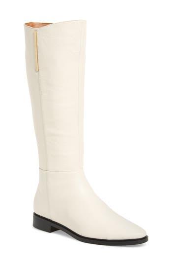 Calvin Klein Francine Knee High Riding Boot, Ivory