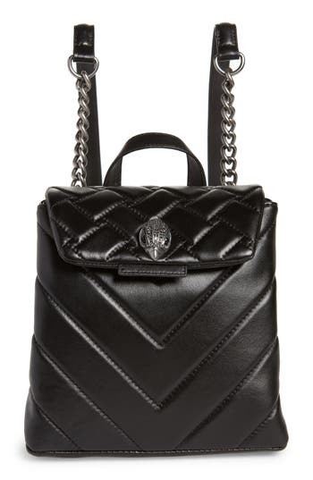 Small Kensington Leather Backpack - Black