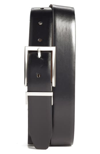 Big & Tall Nordstrom Shop Reversible Leather Belt, Black/ Brown