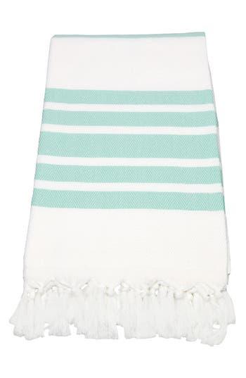 Linum Home Textiles Herringbone Striped Turkish Pestemal Towel, Size One Size - Blue/green