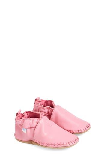 Infant Girl's Robeez 'Classic Moccasin' Crib Shoe