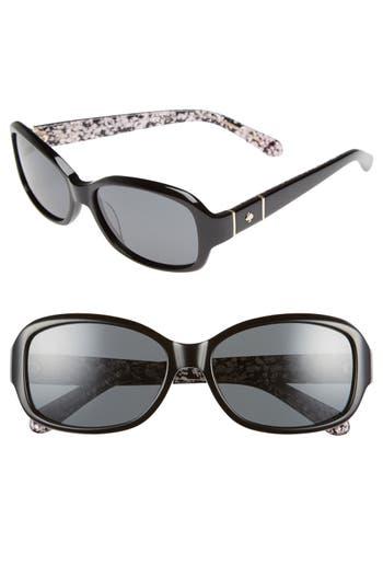 Women's Kate Spade New York Cheyenne 55Mm Polarized Sunglasses - Havana/ Brown Polar
