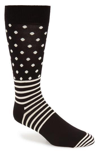 Men's Happy Socks Stripes & Dots Crew Socks
