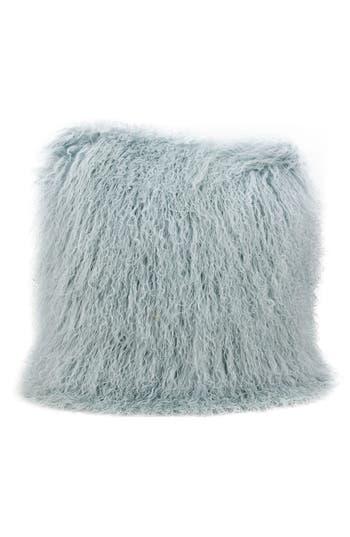 Mina Victory Genuine Tibetan Wool Shearling Pillow, Size One Size - Blue/green