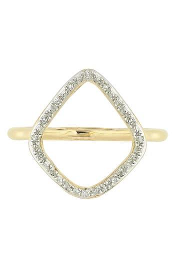 Women's Monica Vinader 'Riva' Diamond Hoop Ring