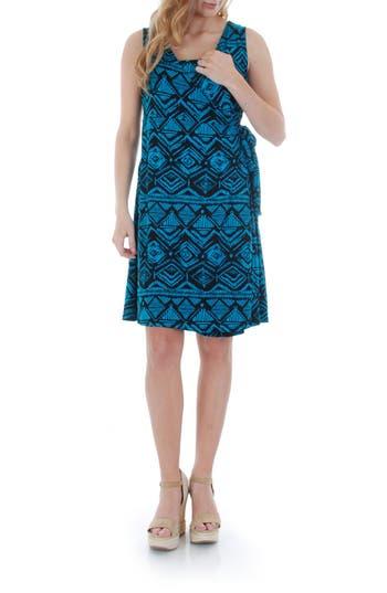 Women's Everly Grey 'Tania' Sleeveless Maternity/nursing Wrap Dress