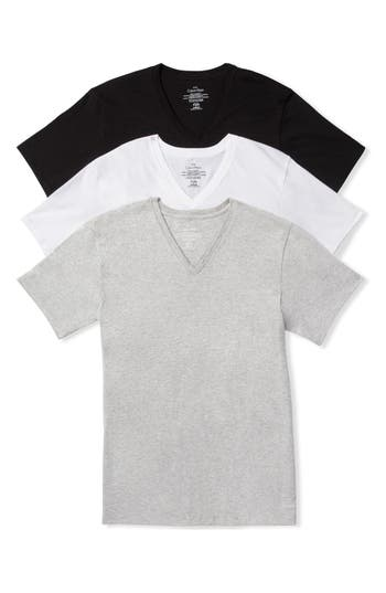 Calvin Klein Assorted 3-Pack Classic Fit Cotton V-Neck T-Shirt