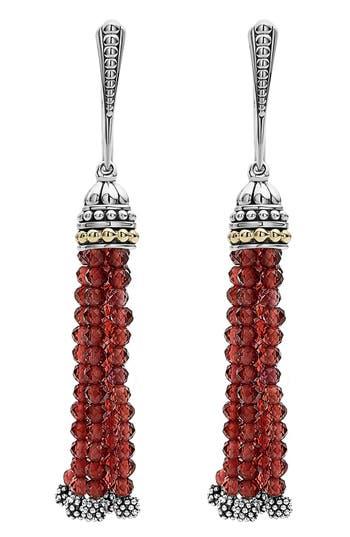 Women's Lagos Caviar Icon Tassel Drop Earrings