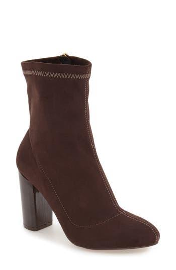 Women's Daya By Zendaya 'Kathryn' Block Heel Zip Bootie, Size 6.5 M - Brown