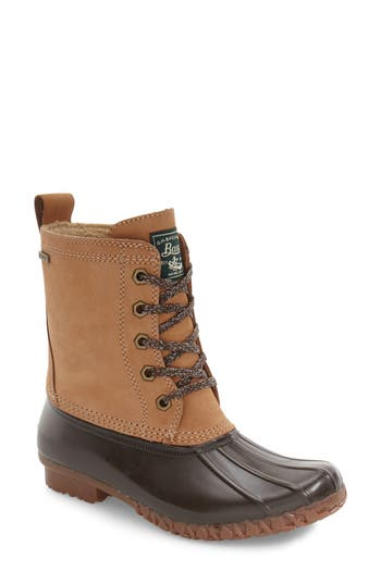 Women's G.h. Bass & Co. Daisy Waterproof Duck Boot, Size 6 M - Brown