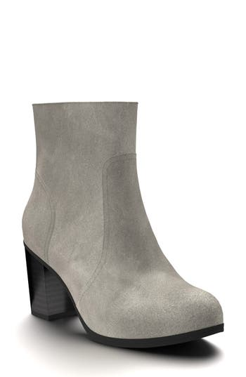 Shoes Of Prey Block Heel Bootie - Grey