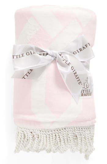 Little Giraffe Bliss(TM) Windowpane Blanket, Size One Size - Pink
