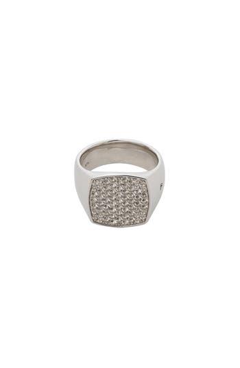 Women's Tom Wood White Topaz Cushion Pinkie Ring