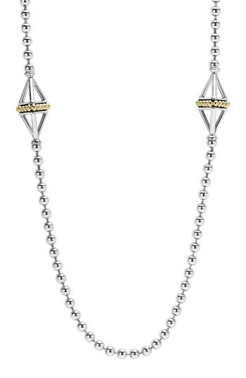 Women's Lagos Ksl Long Pyramid Station Necklace