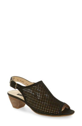 Women's Paul Green Lois Slingback Sandal, Size 8US/ 5.5UK - Black
