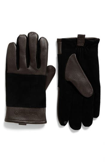 Men's Timberland Suede Gloves, Size X-Large - Brown