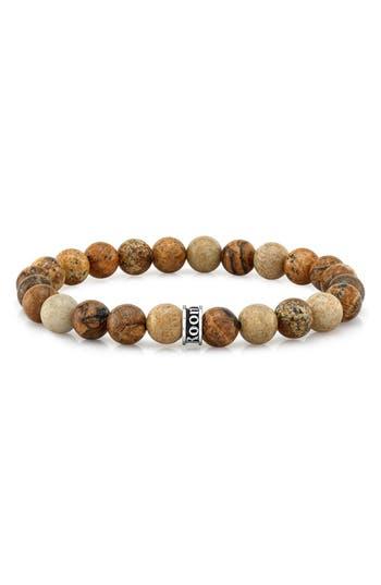 Men's Room101 Agate Bead Stretch Bracelet