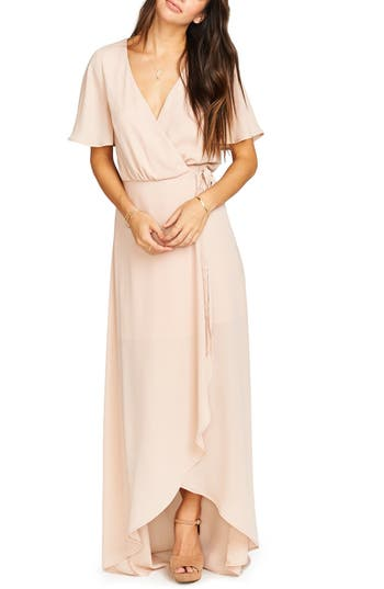 Women's Show Me Your Mumu Sophia Wrap Dress, Size Large - Pink