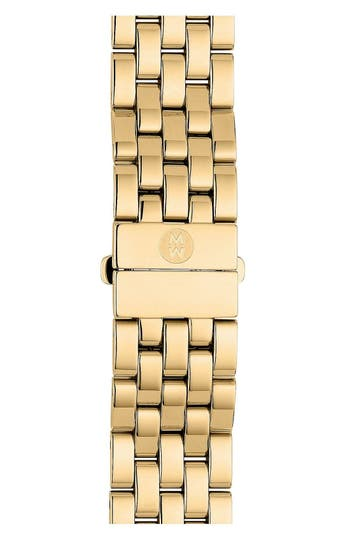 Women's Michele Urban Mini 16Mm Gold Plated Bracelet Watchband