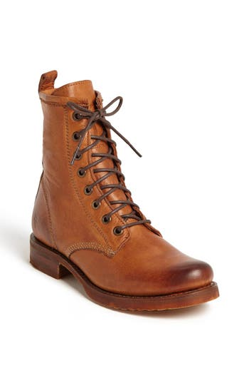 Women's Frye 'Veronica Combat' Boot, Size 6.5 M - Brown