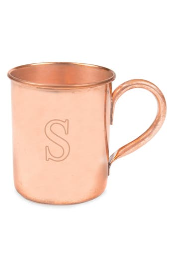 Cathy's Concepts Monogram Moscow Mule Copper Mug, Size One Size - Brown