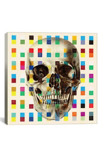 Icanvas 'White Skull Cubes - Fabrizio' Giclee Print Canvas Art