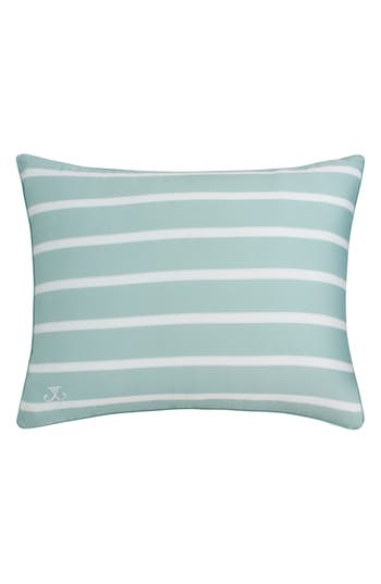 Jill Rosenwald Capri Stripe Standard Sham, Size Standard - Blue/green