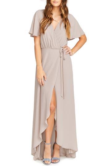 Women's Show Me Your Mumu Sophia Wrap Dress, Size Medium - Beige