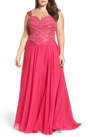 Plus Size Women's MAC Duggal Embellished Gown