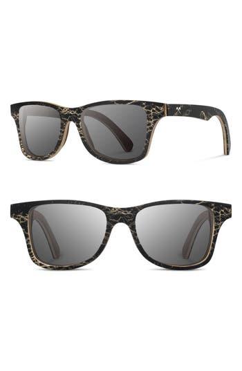 Shwood Canby 55Mm Polarized Cactus & Wood Sunglasses -