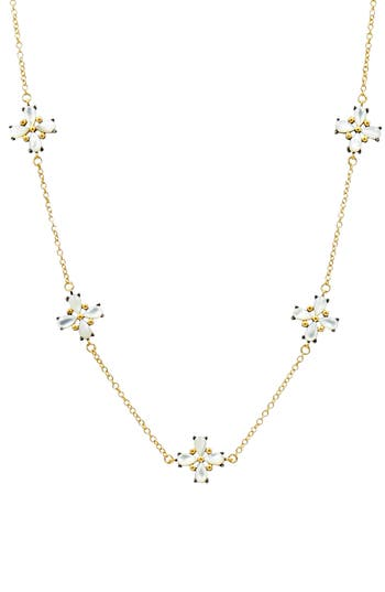 Women's Freida Rothman Fleur Bloom Station Necklace