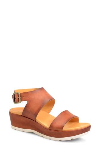 Women's Kork-Ease 'Khloe' Platform Wedge Sandal, Size 9 M - Brown