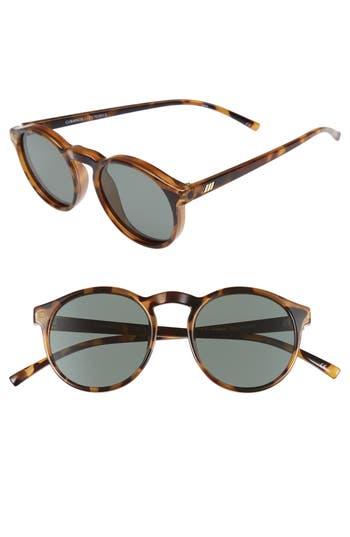 Unique Retro Vintage Style Sunglasses & Eyeglasses Womens Le Specs Cubanos 47Mm Round Sunglasses - Milky Tortoise $69.00 AT vintagedancer.com