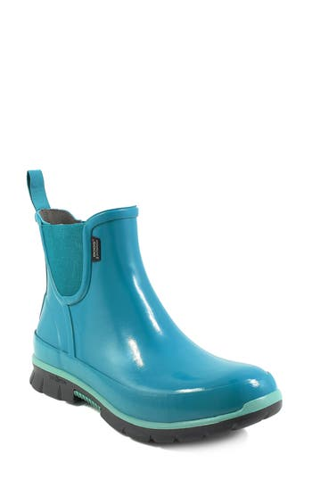 Bogs Amanda Waterproof Rain Boot, Blue/green
