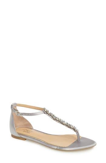 Women's Jewel Badgley Mischka Carrol Embellished T-Strap Sandal
