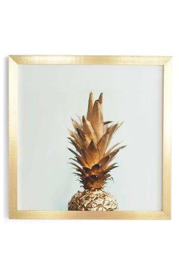 Deny Designs The Gold Pineapple Framed Wall Art