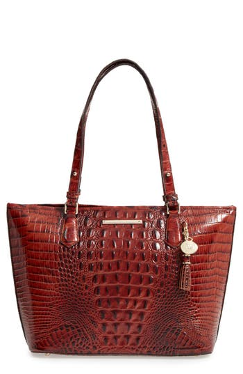 Brahmin 'Medium Asher' Leather Tote - Brown