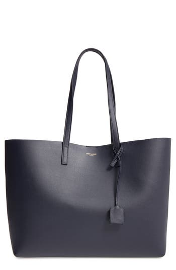 SAINT LAURENT 'SHOPPING' LEATHER TOTE - BURGUNDY