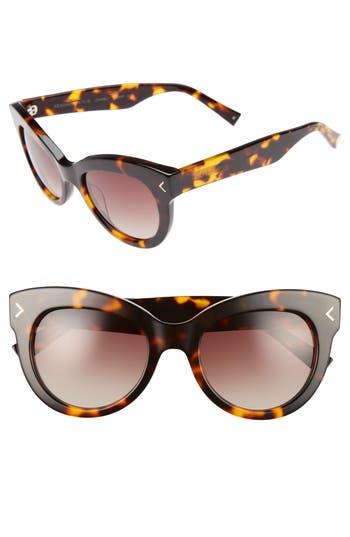 Women's Kendall + Kylie Charli 52Mm Cat Eye Sunglasses - Dark Demi/ Shiny Gold