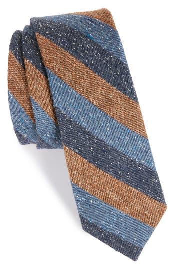 1960s Men's Ties | Skinny Ties, Slim Ties Mens The Tie Bar Varios Stripe Silk Skinny Tie Size Regular - Brown $19.00 AT vintagedancer.com