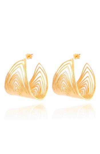 Women's Gas Bijoux Wave Hoop Earrings