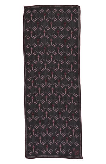 Women's Valentino Loveblade Silk Scarf, Size One Size - Black