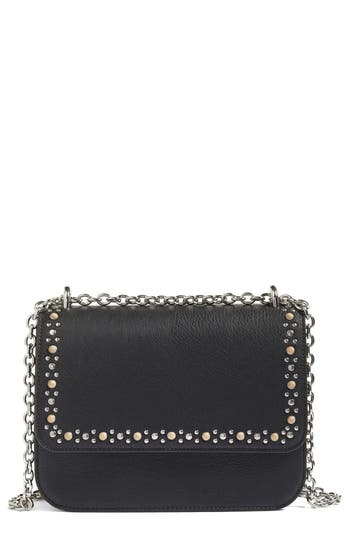 Chelsea28 Dahlia Stone Faux Leather Crossbody Bag - Black
